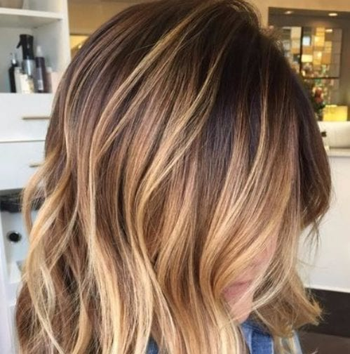 brown bear honey balayage hair color