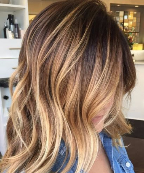 brown bear honey balayage hair color