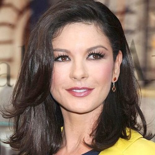 catherine zeta jones layered haircuts