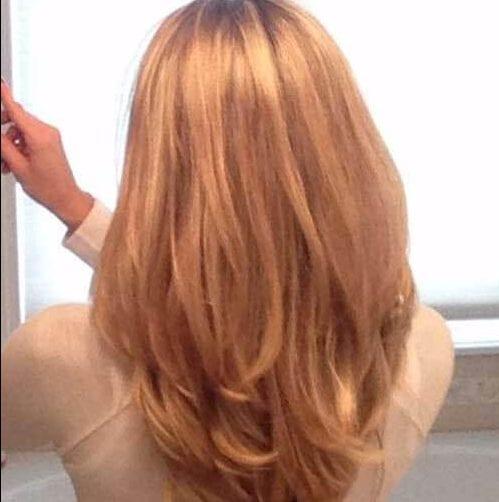 cobre cortes de pelo en capas