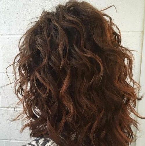 rizado cortes de pelo en capas