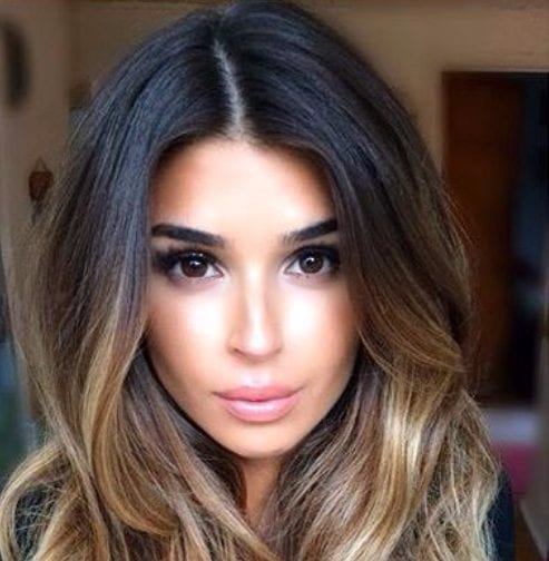 dark and golden walnut balayage hair color