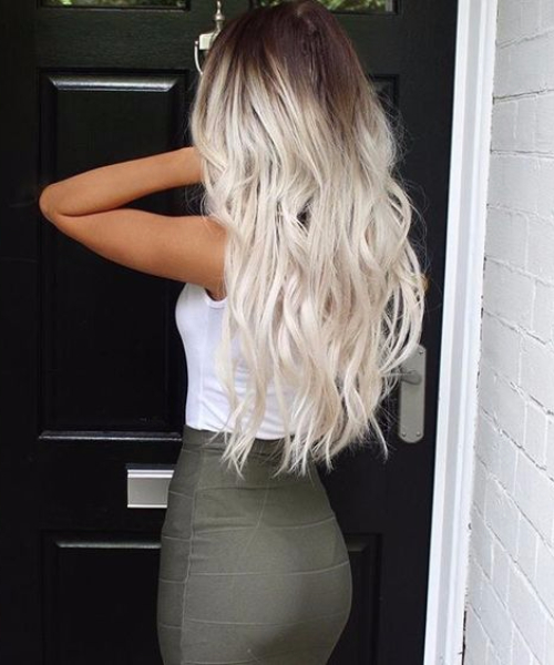 ice blonde balayage hair color