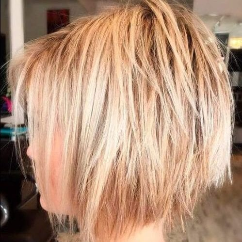 jaw length bob layered haircuts