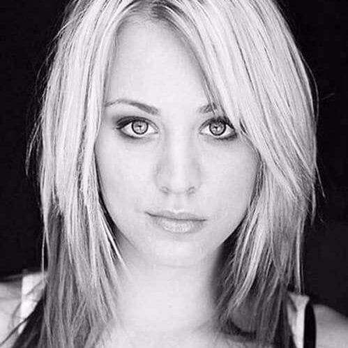 kaley cuoco layered haircuts