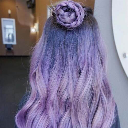 lavender balayage hair color