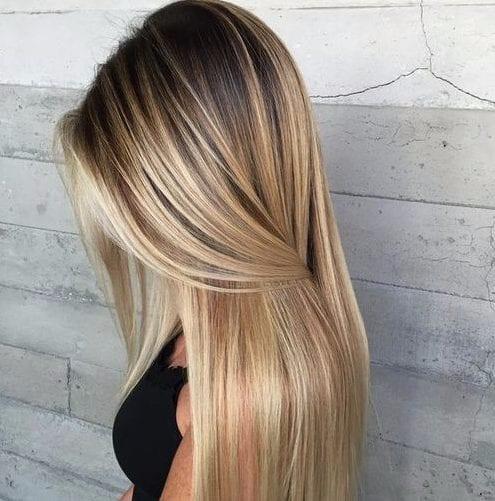 la luz rubio ceniza balayage color de pelo