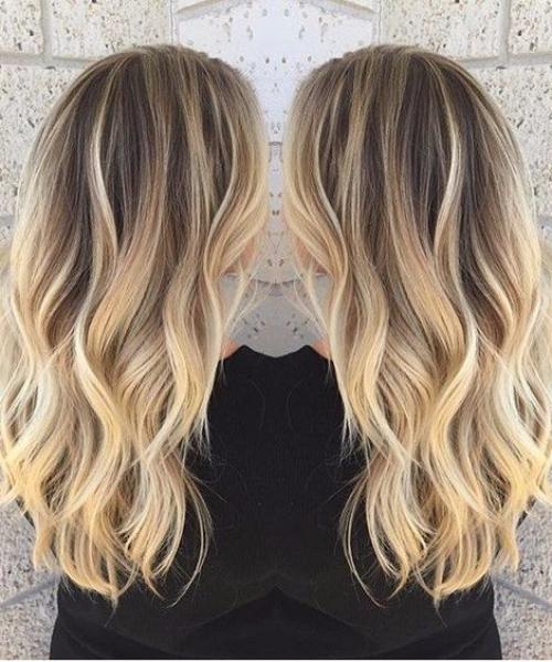 light ginger blonde balayage hair color