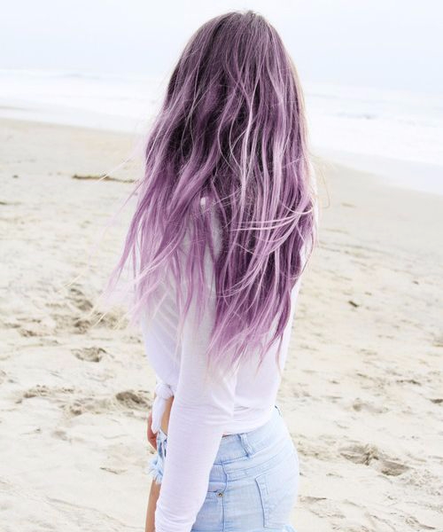 lilac balayage hair color
