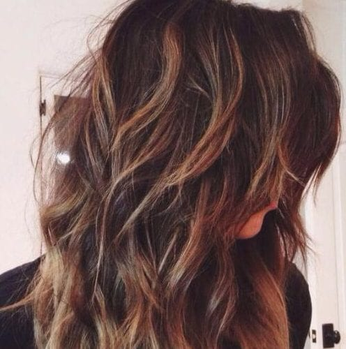 largo shaggy cortes de pelo en capas
