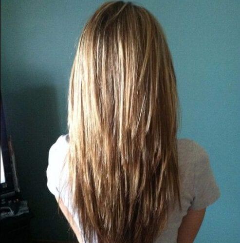 el movimiento de textura cortes de pelo en capas