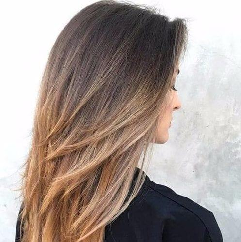 ombre cortes de pelo en capas