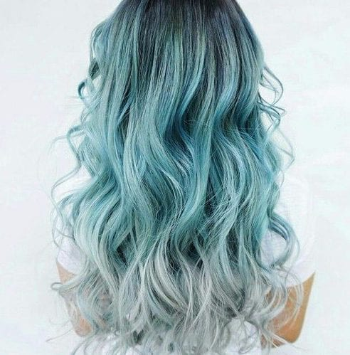 sea foam balayage hair color