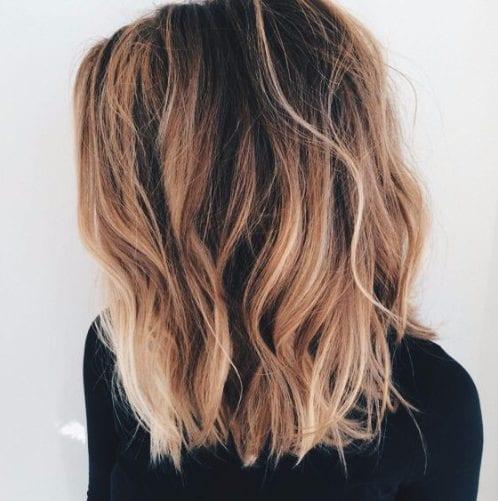 dulce de cobre balayage color de pelo