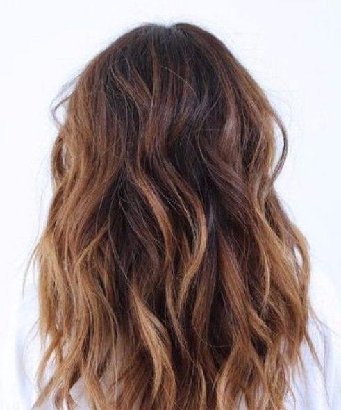 warm cinnamon balayage hair color