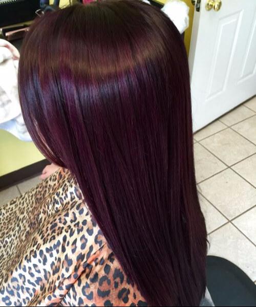 Blackberry plum hair color