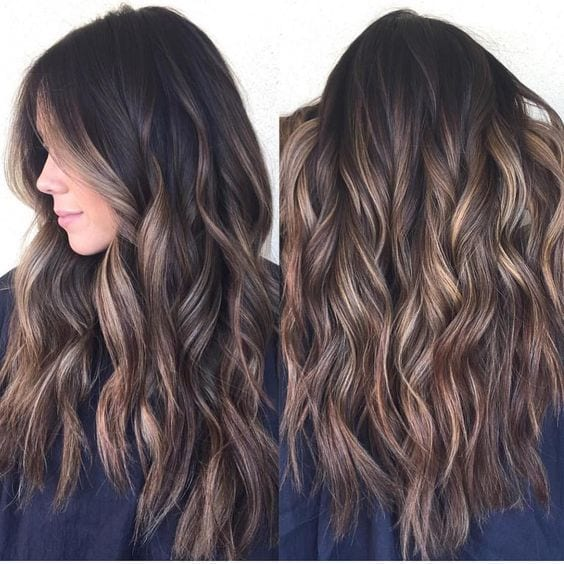 Dark Brown Hair with Caramel Highlights brown hair with blonde highlights