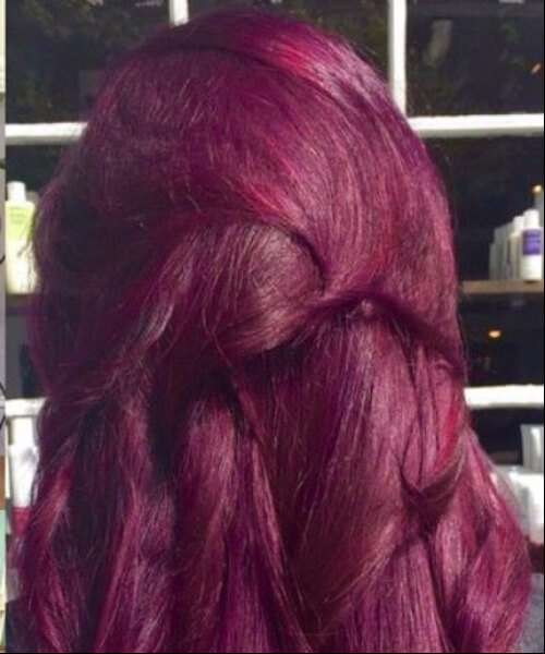 Raspberry Orchid plum hair color
