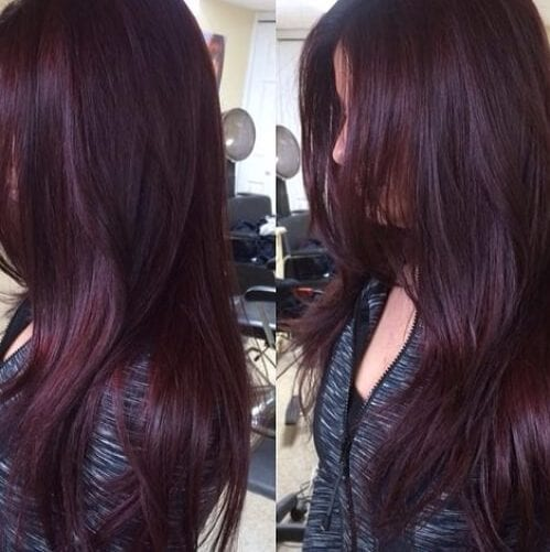 Red violet plum hair color