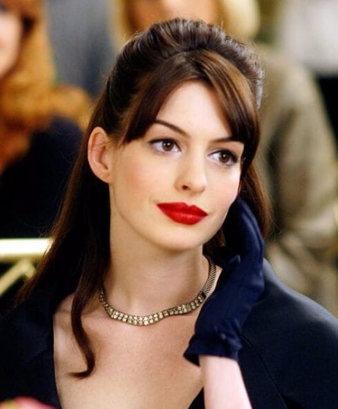 anne hathaway hairstyles with bangs