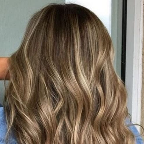brown hair with blonde highlights light dimension