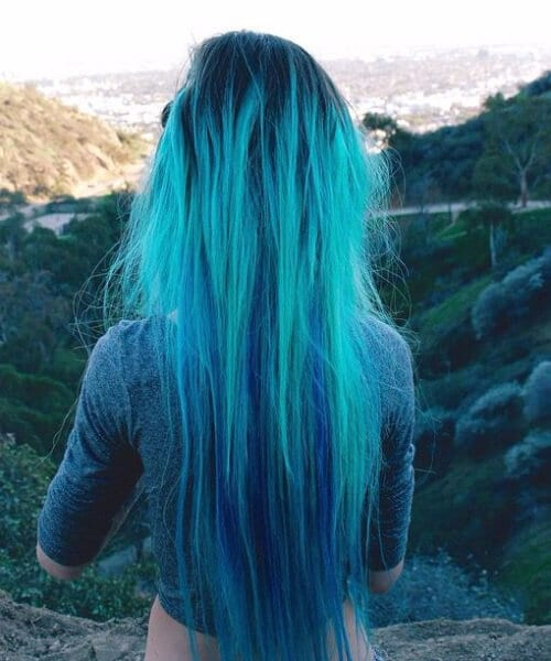 like water teal hair color