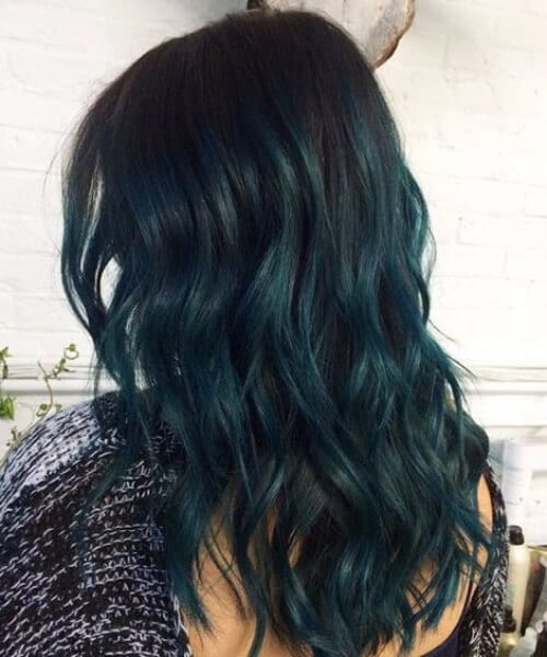 ocean dark green teal hair color