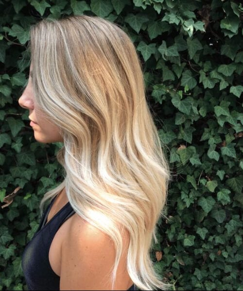 sombre blonde balayage