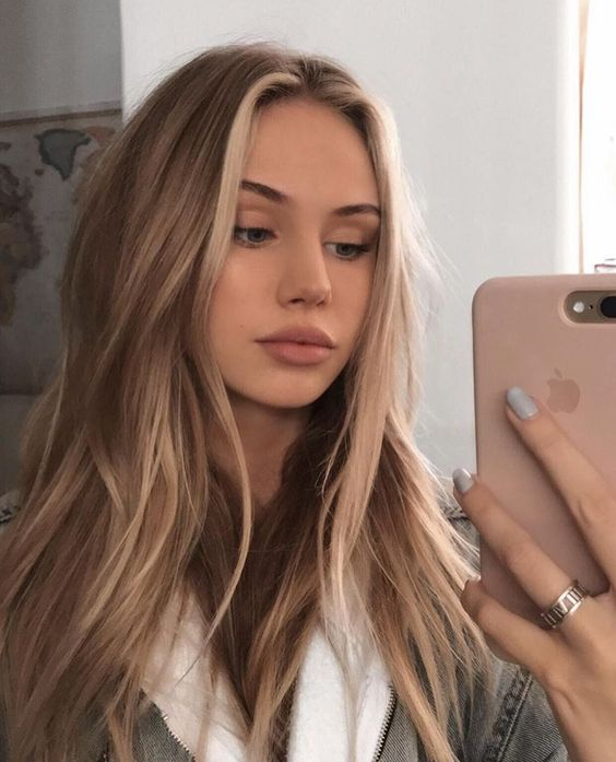 supermodel brown hair with blonde highlights