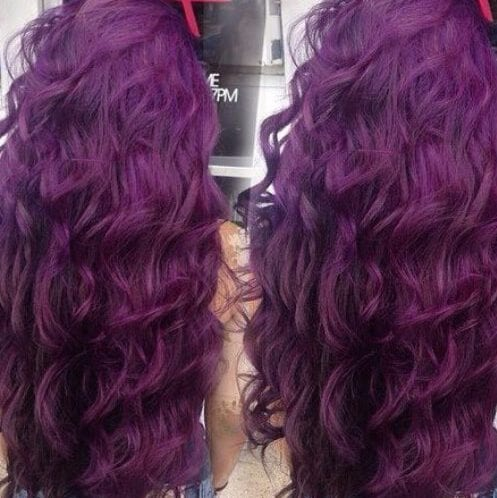 tyrian purple plum hair color