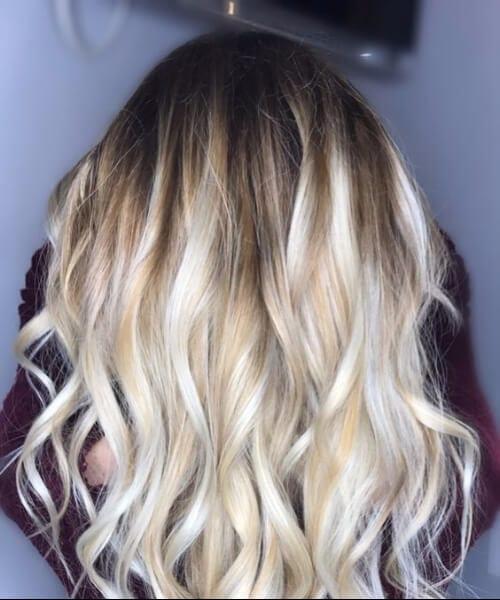 vanilla cream blonde balayage