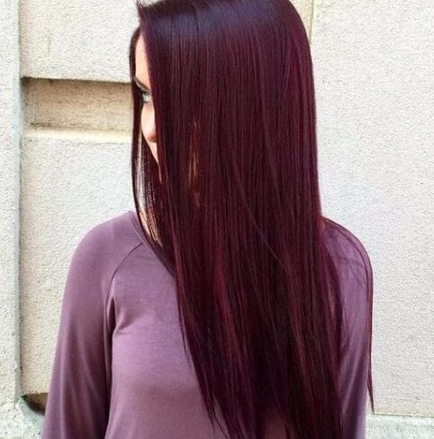 wine plum hair color