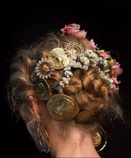 Dolce & Gabbana Spring 2014 wedding hairstyles for long hair