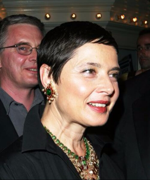 Isabella Rossellini hairstyles for women over 60