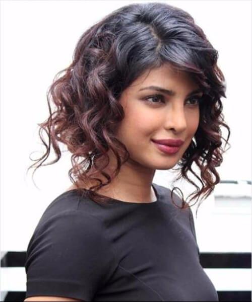 Priyanka Chopra asymmetrical bob
