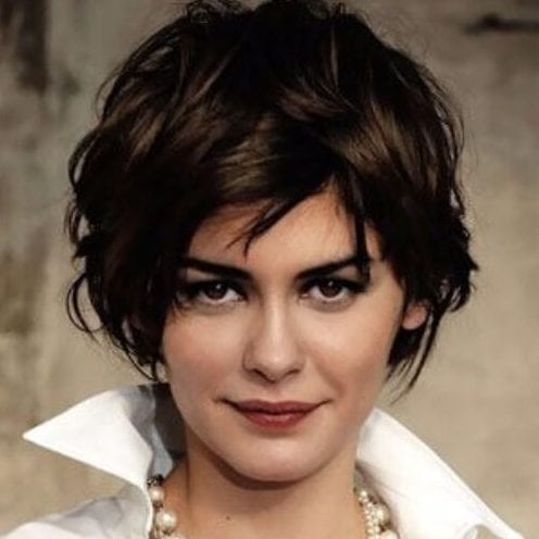 audrey tatou short hairstyles for thick hair