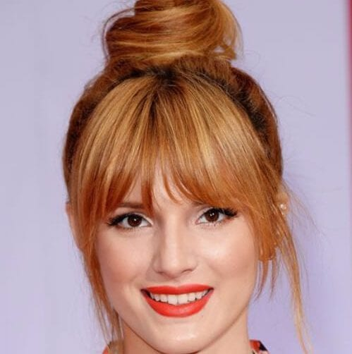 bella thorne long hair with bangs