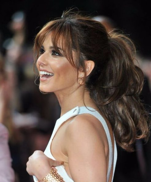 cheryl cole long hair with bangs
