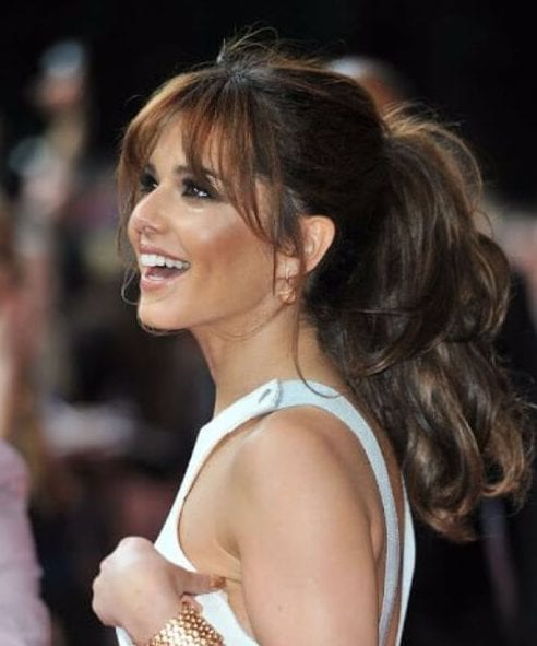 cheryl cole side swept bangs