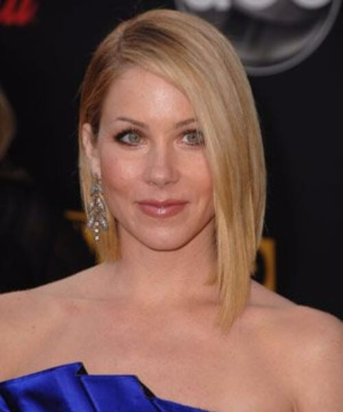 christina applegate asymmetrical bob
