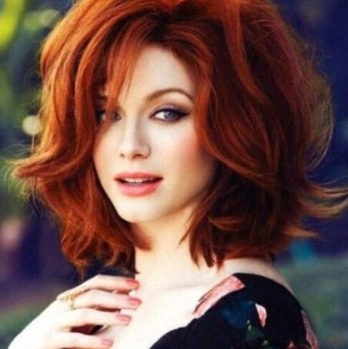 christina hendricks short hairstyles for thick hair