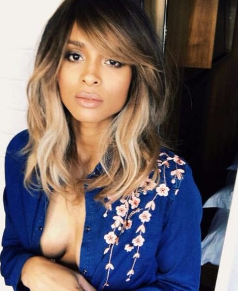 ciara side swept bangs