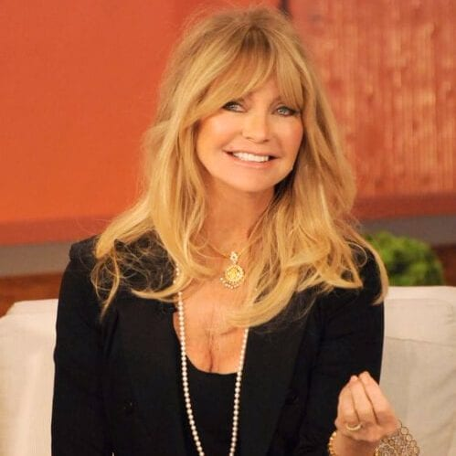 goldie hawn long hair with bangs