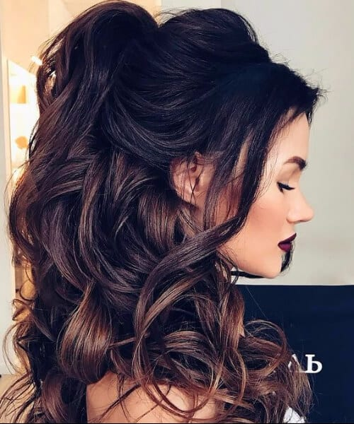 long hair down wedding styles 50 dreamy wedding hairstyles for hair my new hairstyles 1296 | half up half down wedding hairstyles for long hair