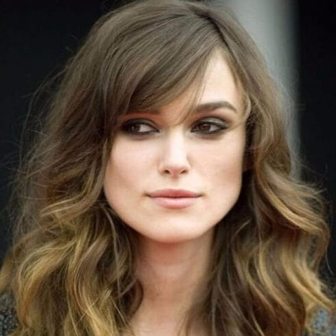 keira knighteley long hair with bangs