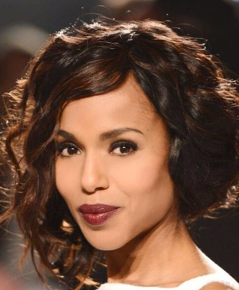 kerry washington asymmetrical bob