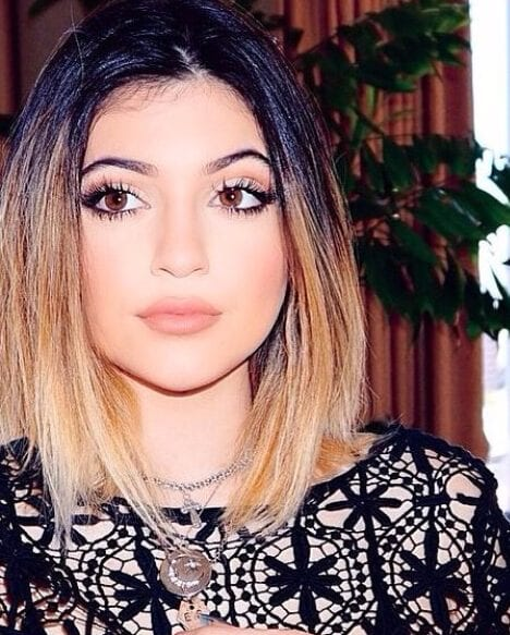 kylie jenner short hair ombre