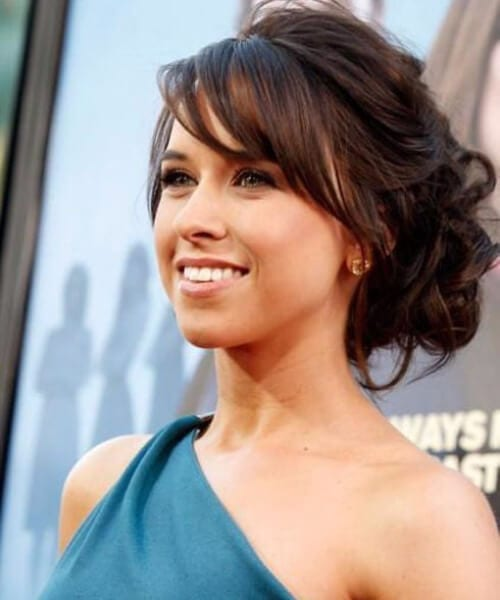 lacey chabert side swept bangs