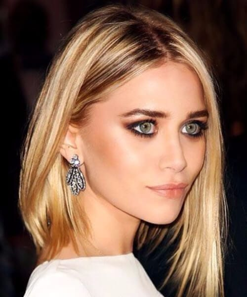 mary kate olsen asymmetrical bob