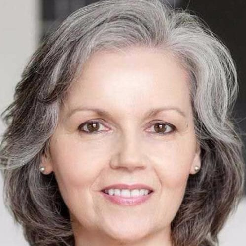 salt and pepper hairstyles for women over 60